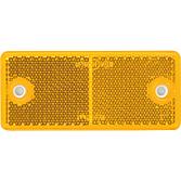 Światło odblas.żółte prostokąt.90x4