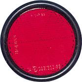 Światło odblask.czerwone okrągłe 90