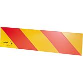 Oznakowanie ostrzegawcze ECE 70 do pojazdów ciągnących na aluminiowej tabliczce