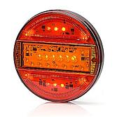 Trzykomorowe światła LED okrągłe 12/24V