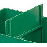 Przegródka, zielona,do pudełka, 84x