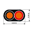 Przewód płaski 2x0,75qmm 50m