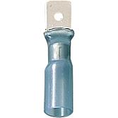 Płaskie wypustki z izolacją z rurki termokurczliwej