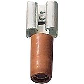 Gniazdo konektora 6,3mm czerwone