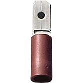 Wtyk konekt. 4,8  0,5-1,5qmm czerwon