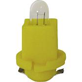 24V 1,2W plastikowa lampa podstawowa żółta