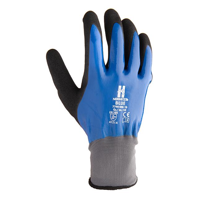 Rękawice ochronne nitrylowe BLUE